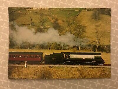 SR Bullied West Country 'City of Wells' Keighley & Worth Valley Railway postcard
