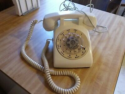 Vintage Western Electric Tan Rotary Dial Desk Phone 500DM...see details
