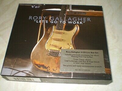 Rory Gallagher Let's go to Work 4 CD Live Box Set