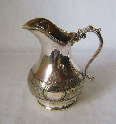Antique silver plated Cream Jug C.19th: some plate wear.