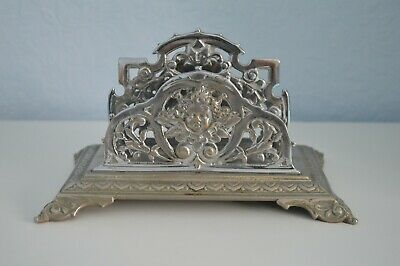 Art Nouveau silver plated letter holder marked British make