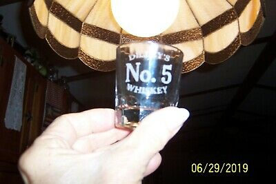 PRE-PROHIBITION Dilley's No. 5 Whiskey Heavy Molded SHOT GLASS