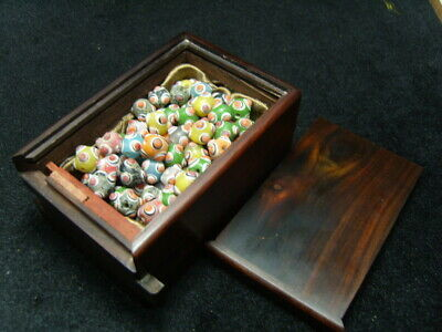 one box Ancient-glass-beads eye bead - See Video