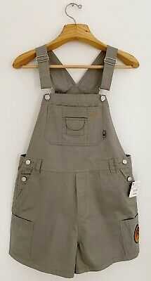 NWT Vtg MICKEY MOUSE Disney Jerry Leigh Women XL Army Green Overall Shorts