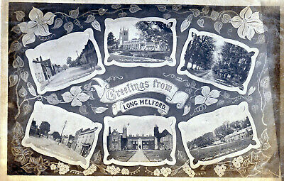 LONG MELFORD, SUFFOLK MULTI-VIEW, 1920's Nr Sudbury, Clare & Bury St Edmunds