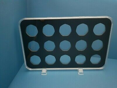 ACRYLIC COIN DISPLAY CASE,TRAY FOR 50 pence (15 slots) coins not included.