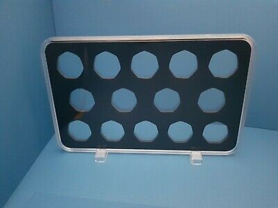 ACRYLIC COIN DISPLAY CASE,TRAY FOR 50 pence (14 slots) coins not included.