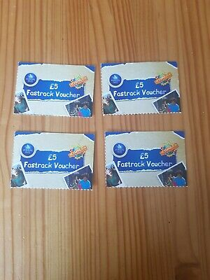 4 x Chessington Fast Pass Voucher £5 each Worth £20 Theme Park Merlin Annual (2)