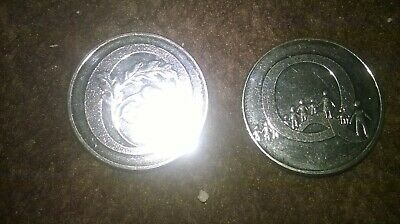 A to Z 10p coins uncirculated letters O and Q FREE POST/1p start