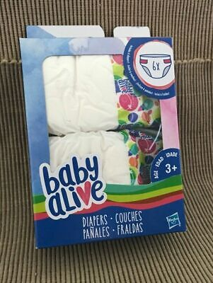 New 2016 Hasbro Baby Alive Doll 6 Pack Refill Diapers
