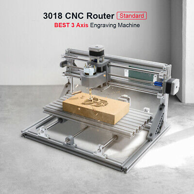 NEW 3018 3 Axis Mini DIY CNC Router Standard Spindle Motor Wood Engrave Machine
