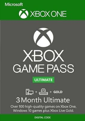 Xbox Game Pass Ultimate, 3 Month Membership, Xbox One/Win 10 PC