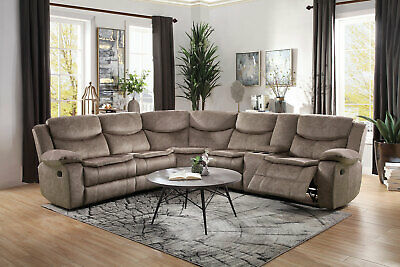 Amazing New Living Family Room Sectional Light Brown Fabric Gamerscity Chair Design For Home Gamerscityorg