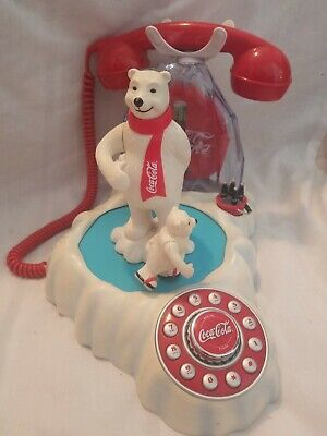 Coca Cola Collector Animated Polor Bear Phone Light Up
