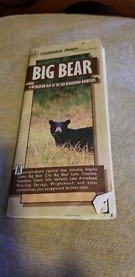 Big Bear CA : Pocket Map by Compass Maps Staff (2004, Map, Other)