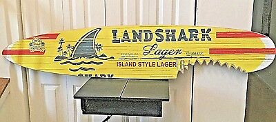 MINT !! NEW!!! LANDSHARK SURFBOARD Beer Sign!! NR!