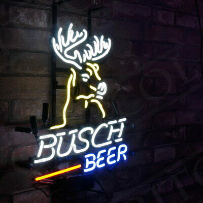 Busch Beer Bar Poster Neon Sign Light Window Party Workshop Game Room Man Cave