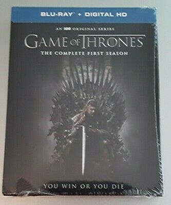 SEALED Game of Thrones The Complete First Season 1 -Blu-ray 5-Disc Digital Code