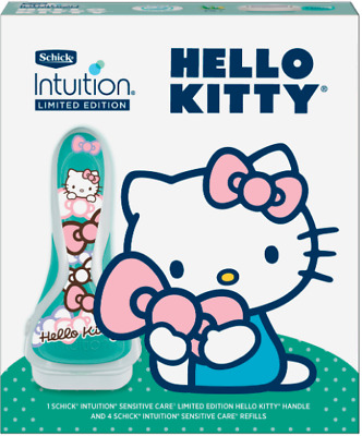 New - Hello Kitty Schick Intuition Advanced Moisture Shave Gift Set ( Blue )
