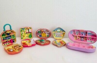 VINTAGE BLUEBIRD 1989 POLLY POCKET Compacts Zoo + 4 More