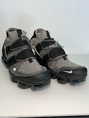 Nike Air Vapormax Flyknit Utility Moon Particle White/Black AH6834-201 Size 9.5