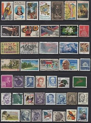 USA No.7 COLLECTION OF (44) STAMPS USED.