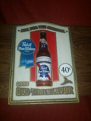 1960's Pabst Blue Ribbon Beer Sign