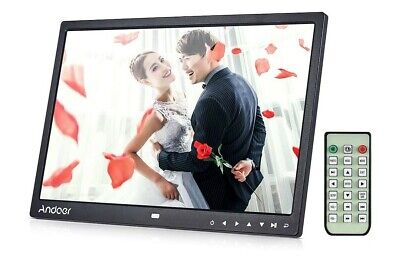 12inch  LED Digital Photo Picture Frame Movie Player Remote Control. Black