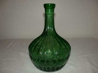 Nice Mid Century Green Genie Bottle Decanter Vase Made In Italy No Stopper