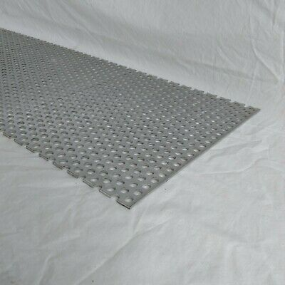 "Perforated Metal Aluminum Sheet 1/8"" Thick  12"" x 12"" 3/8"" hole 11/16"" Stagger"