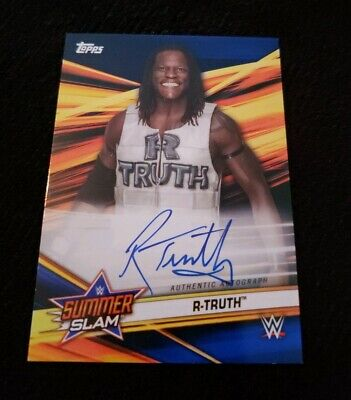 2019 Topps Wwe Summerslam R-Truth Auto Blue Parallel #D 24/5O