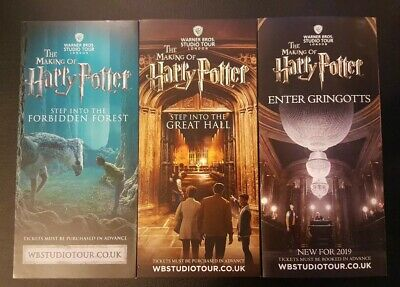 The Making Of Harry Potter Warner Bros Studio Tours London Promotional Flyers.