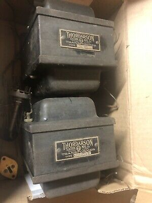 Thordarson Type T-17R30 x2 Vintage Transformers For DYI Western Electric Tubeamp
