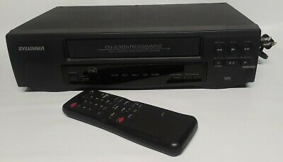 Sylvania SRV192  VCR w/Remote Control & Owners Manual, VHS Player