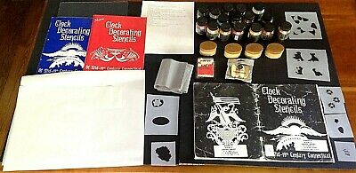 Stenciling Supplies Primarily For Clocks; Large Selection Of Pigments,Books, Etc