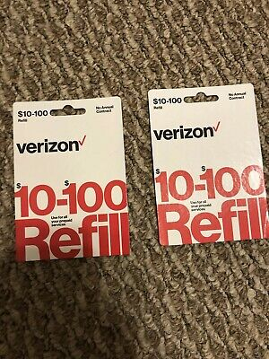 Verizon wireless Prepaid Phone Refill Card $200