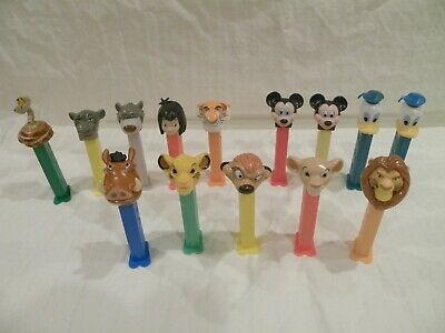 Disney PEZ Dispensers Jungle Book Lion King Mickey Mouse