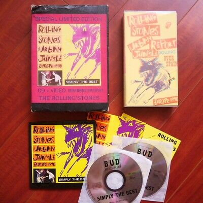 """Rolling Stones """"Simply The Best"""" 2xCD+VHS Mega Rare Germany"""