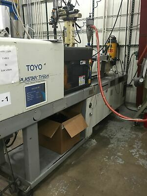 TOYO Ti55H with ROBOT and NOVATECH DRYERS! Injection Molding Machine Startups!
