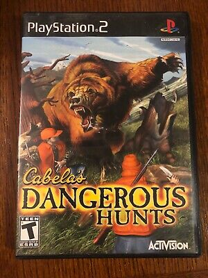 Cabela's Dangerous Hunts Sony Playstation 2 PS2 Video Game Complete