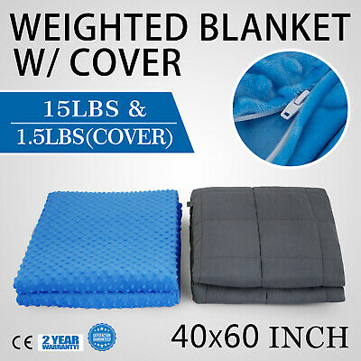 Weighted Blanket With Removable Cover 6.8KG Deep Sleep Autism Better Stress