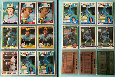1979-1984 ROBIN YOUNT non-Rookie Card LOT of 15 | MILWAUKEE BREWERS