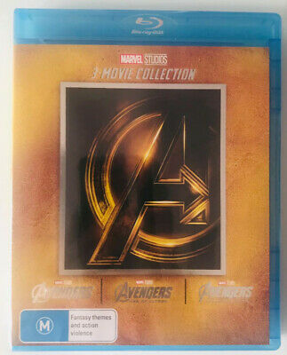 Avengers 1-3 [Blu-ray Set] The Complete Marvel Trilogy 1 2 3 Collection 123 US