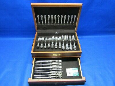 Reed & Barton Francis 1(I) Sterling Silver 72pc Flatware Set Old Mark Service 12