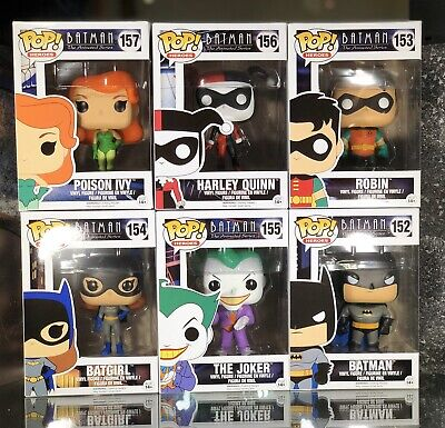 Funko Pop batman animated series set Joker Robin  ivy +  Full Btas Set S1 Mint