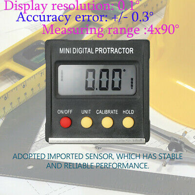 Magnetic Base Digital Protractor Angle Gauge Finder Inclinometer level Box Mini
