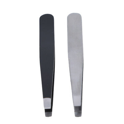Stainless Steel Eyebrow Clip Tool Pointed Tweezer Eyelash With Protect Case WA
