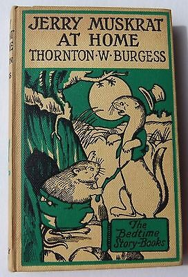 Thornton W Burgess Jerry Muskrat at Home HB Harrison Cady 1950 vintage book