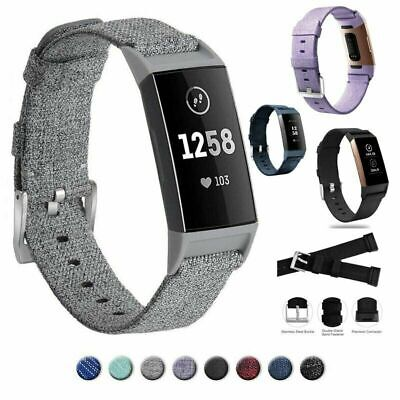For FitBit Charge 3 Woven Band Watch Wrist Strap Nylon Wristband Replacement