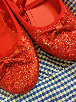 Ruby Slippers Dorothy shoes book week girls costume Wizard of Oz. FREE SHIPPING